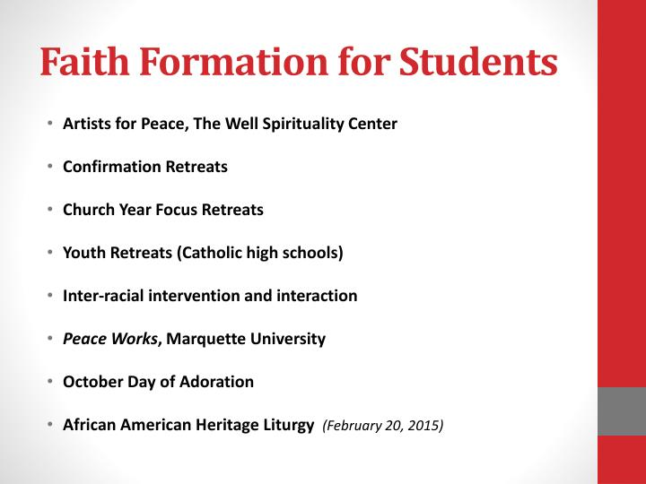 Faith Formation for Students