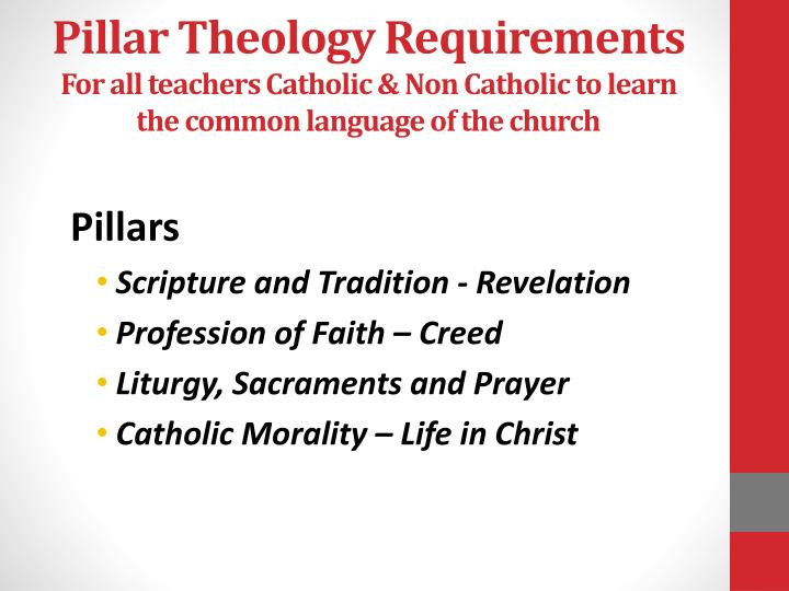 Pillar Theology Requirements