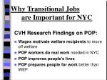 why transitional jobs are important for nyc