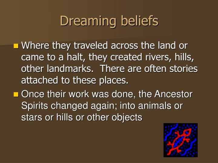 Dreaming beliefs