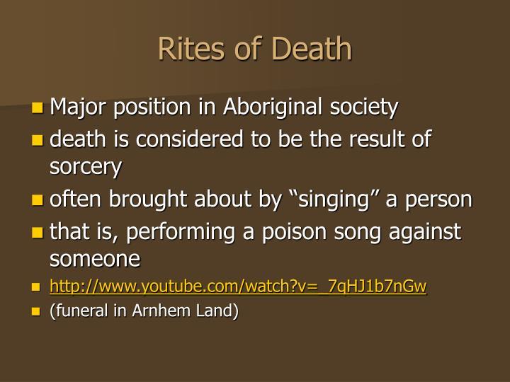 Rites of Death