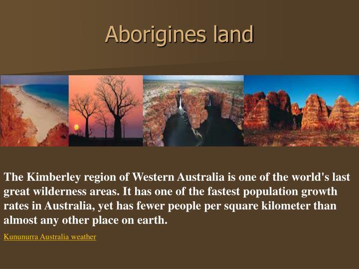 Aborigines land