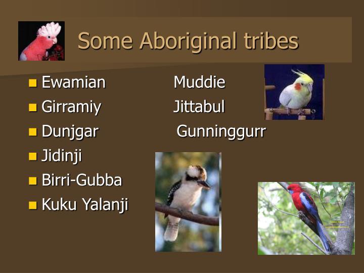 Some Aboriginal tribes