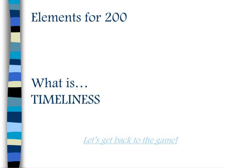 Elements for 200
