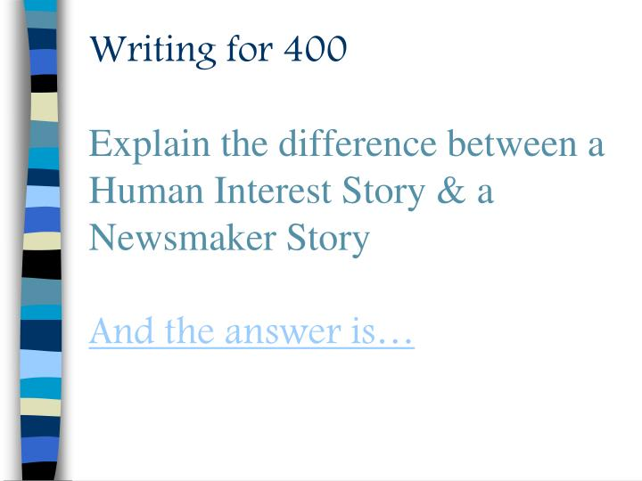 Writing for 400
