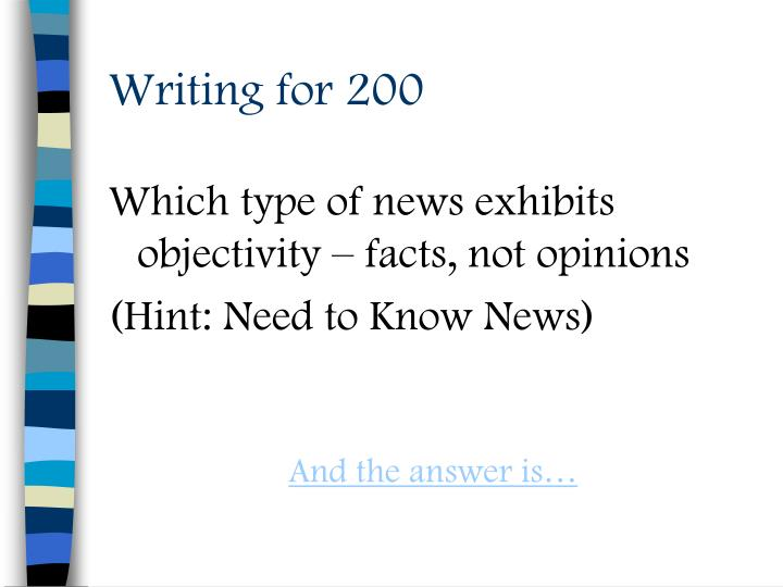 Writing for 200