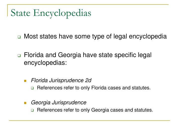 State Encyclopedias
