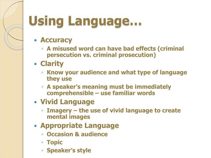 Using Language…