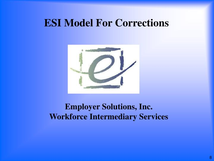ESI Model For Corrections