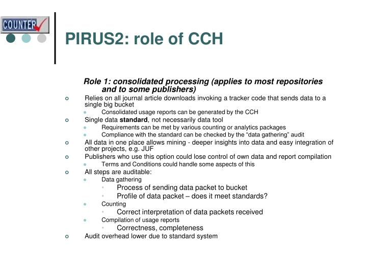 PIRUS2: role of CCH