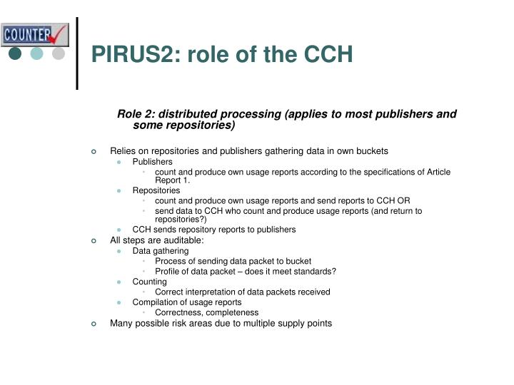PIRUS2: role of the CCH