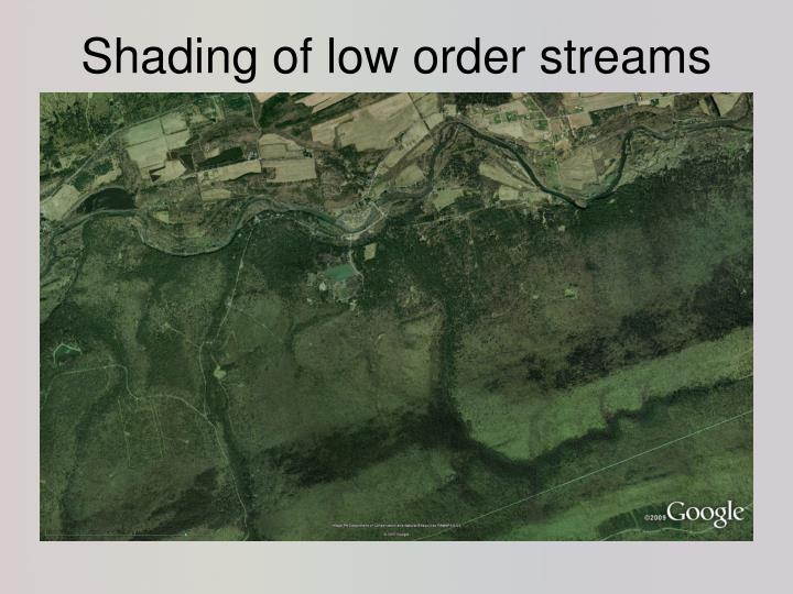 Shading of low order streams