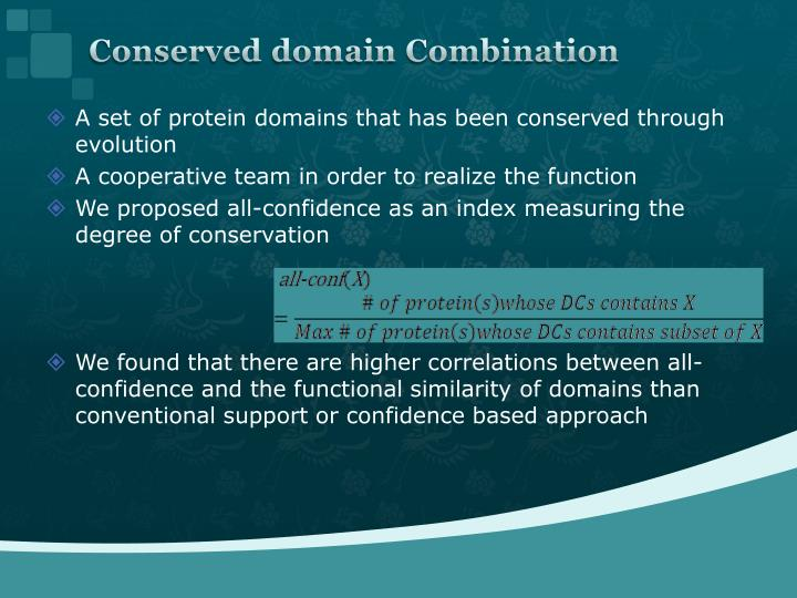 Conserved domain Combination