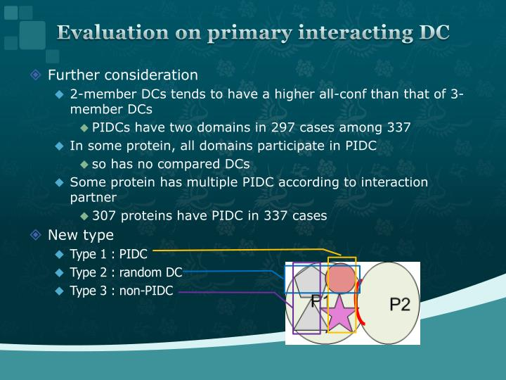 Evaluation on primary interacting DC
