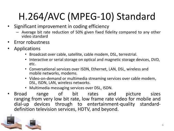 H.264/AVC (MPEG-10) Standard