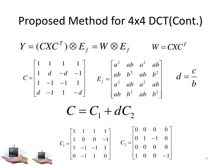 Proposed Method for 4x4 DCT(Cont.)
