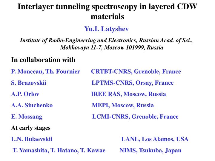 Interlayer tunneling spectroscopy in layered CDW materials