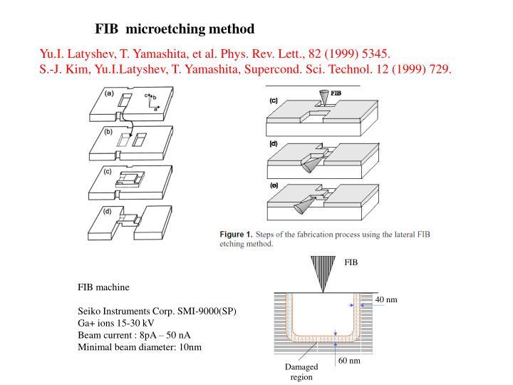 FIB  microetching method