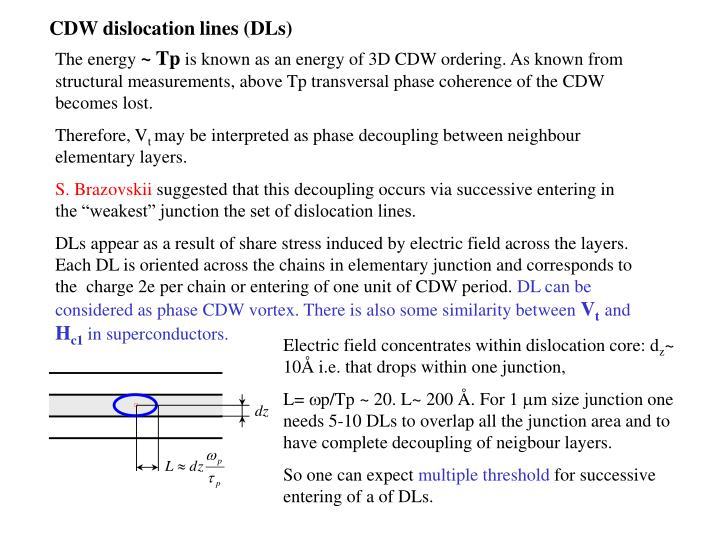 CDW dislocation lines (DLs)