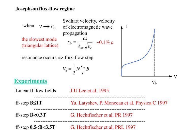 Josephson flux-flow regime