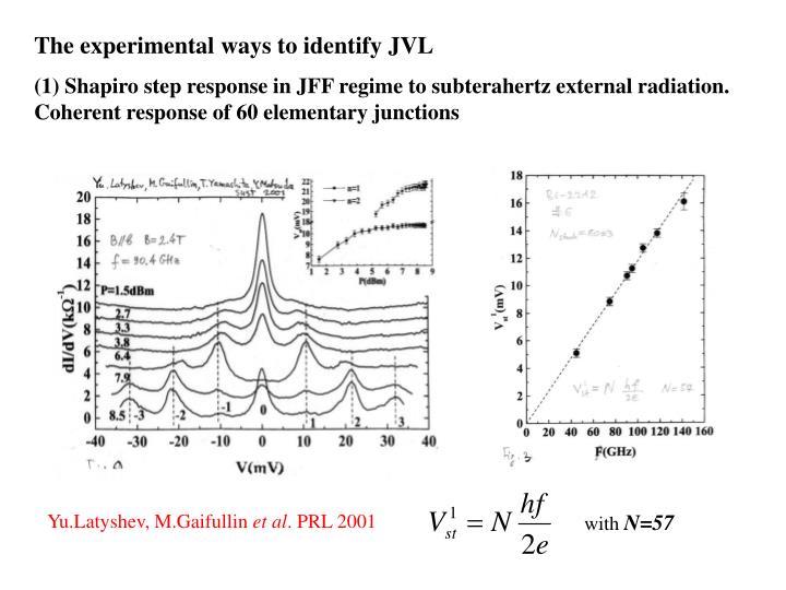 The experimental ways to identify JVL