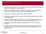corporate summary