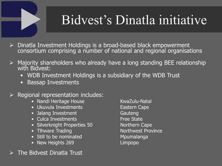 Bidvest's Dinatla initiative