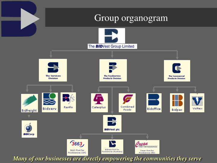 Group organogram
