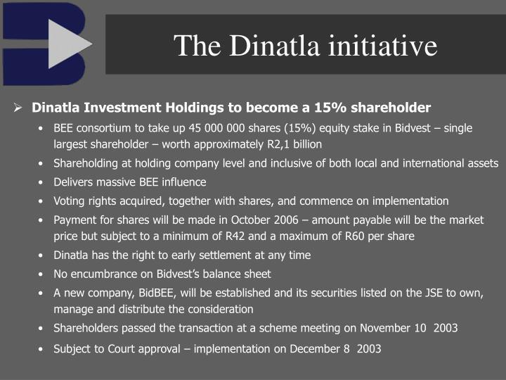 The Dinatla initiative