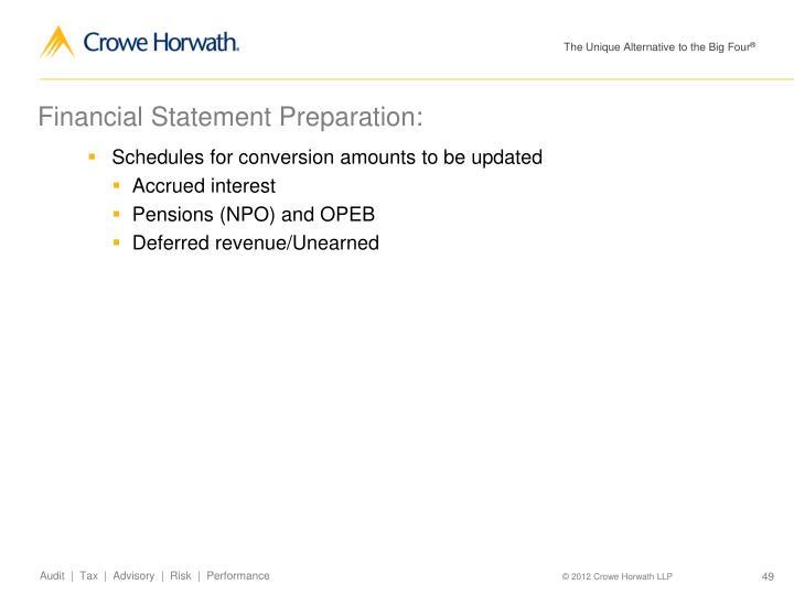 Financial Statement Preparation: