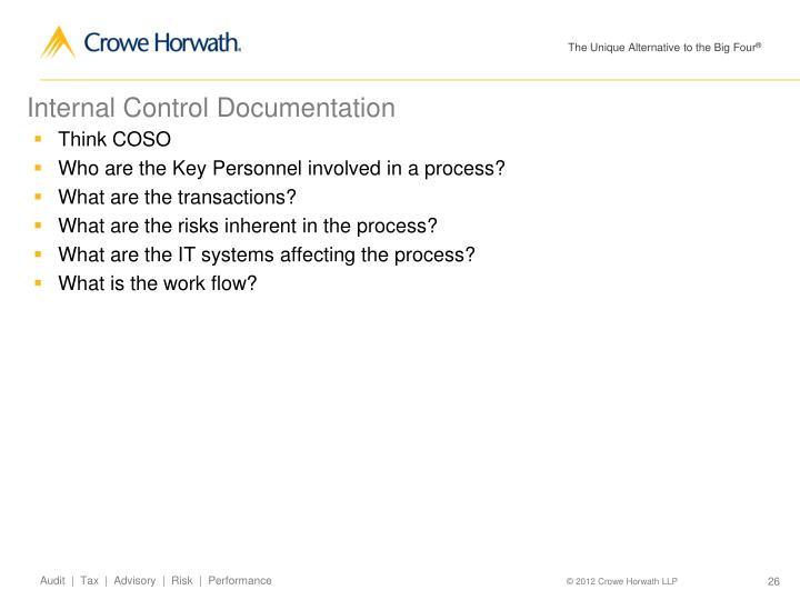 Internal Control Documentation