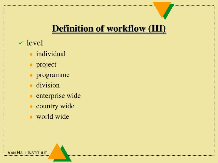 Definition of workflow