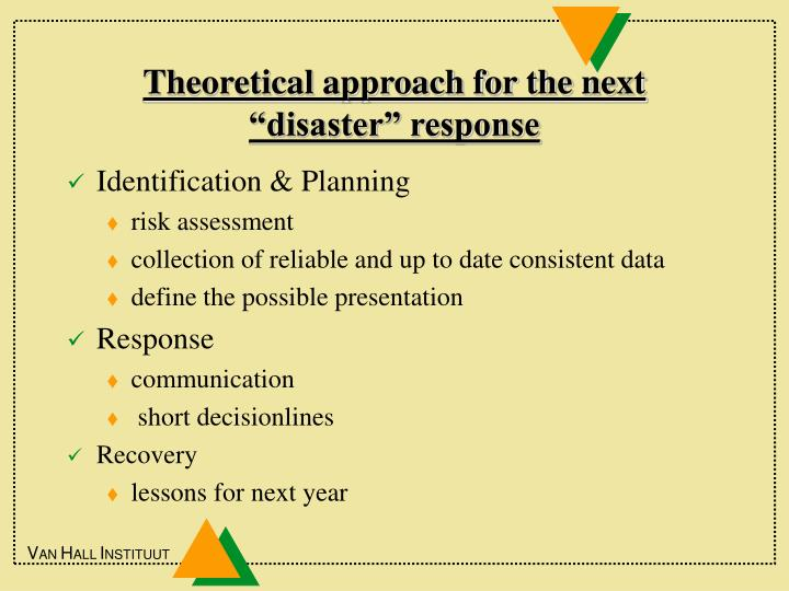 """Theoretical approach for the next """"disaster"""" response"""