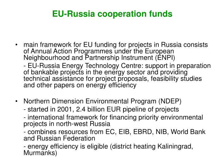 EU-Russia cooperation funds