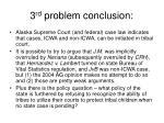 3 rd problem conclusion