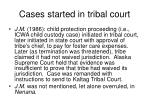 cases started in tribal court