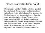 cases started in tribal court1