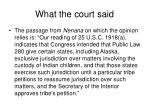 what the court said
