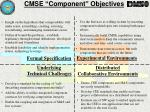 cmse component objectives