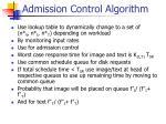 admission control algorithm