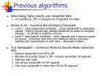 previous algorithms