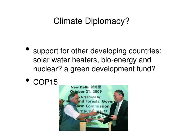 Climate Diplomacy?