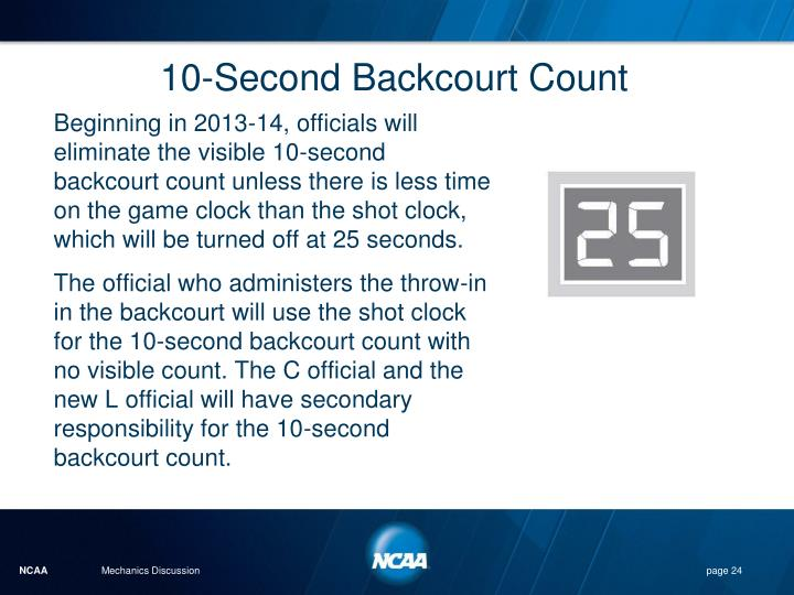 10-Second Backcourt Count