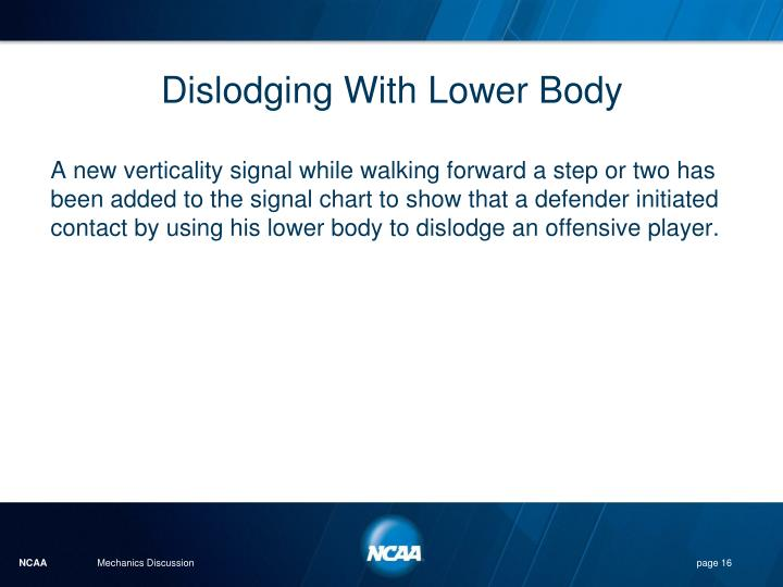Dislodging With Lower Body