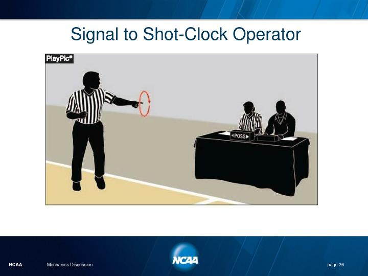 Signal to Shot-Clock Operator