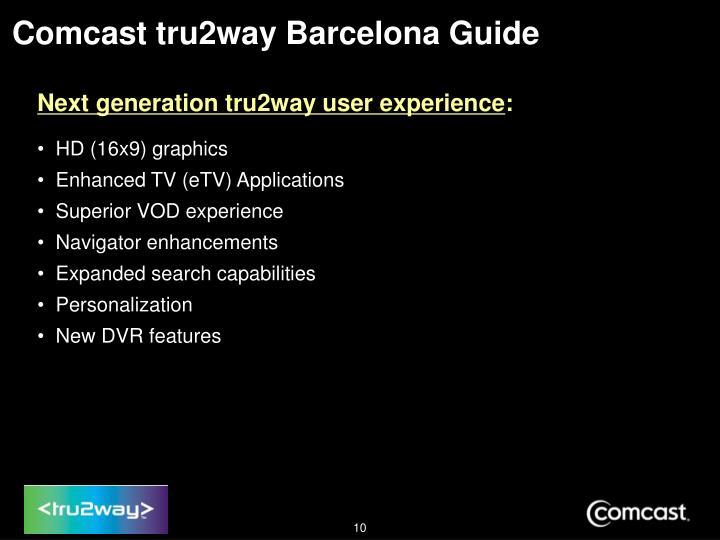 Comcast tru2way Barcelona Guide