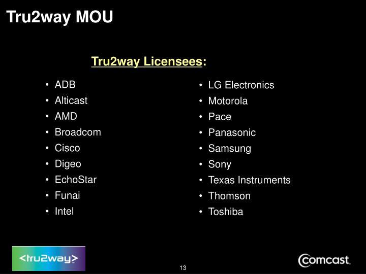 Tru2way MOU