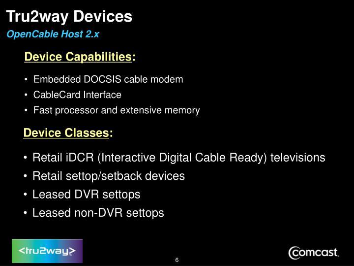 Tru2way Devices