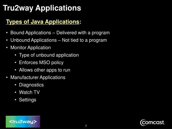 Tru2way Applications