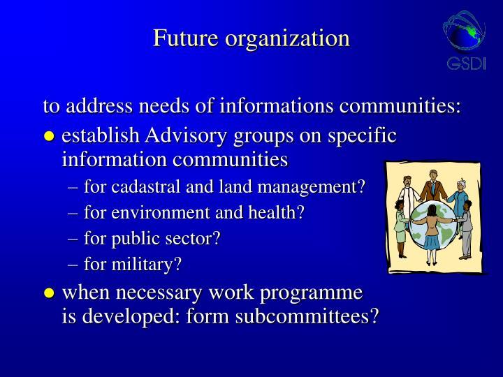 Future organization